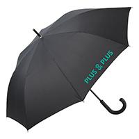 plusplus-vihmavari-logoga