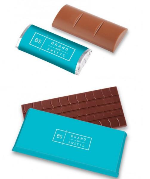 logoga šokolaad